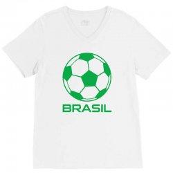 brasil sport soccer ball fun V-Neck Tee   Artistshot