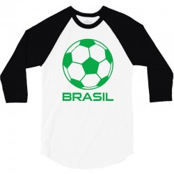brasil sport soccer ball fun 3/4 Sleeve Shirt   Artistshot