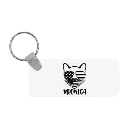 Cat Independence Day Frp Rectangle Keychain Designed By Delicous