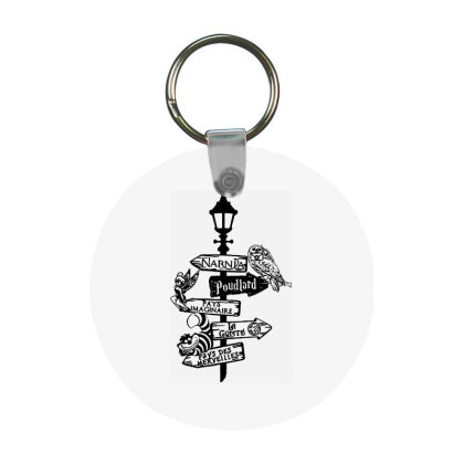 Owl Horror Frp Round Keychain Designed By Delicous