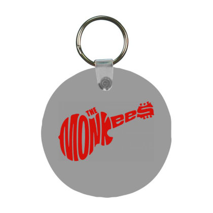 Guitar Logo The Monkees Frp Round Keychain Designed By Patric9909