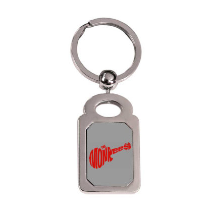 Guitar Logo The Monkees Silver Rectangle Keychain Designed By Patric9909
