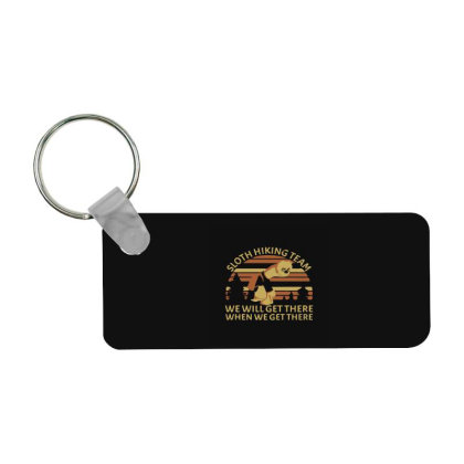 Sloth Hiking Team We Will Get Frp Rectangle Keychain Designed By Yad1_