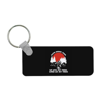 Sloth Hiking Team Will Frp Rectangle Keychain Designed By Yad1_