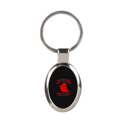 So Tell Me What Oval Keychain Designed By Yad1_