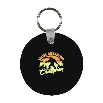 Social Distancing Champion Frp Round Keychain Designed By Yad1_