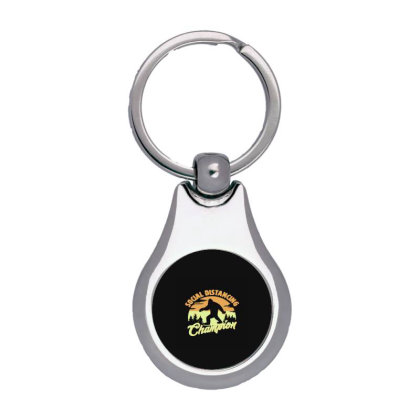 Social Distancing Champion Silver Pear Keychain Designed By Yad1_