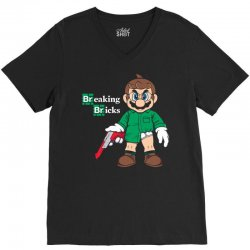 breaking bricks V-Neck Tee | Artistshot
