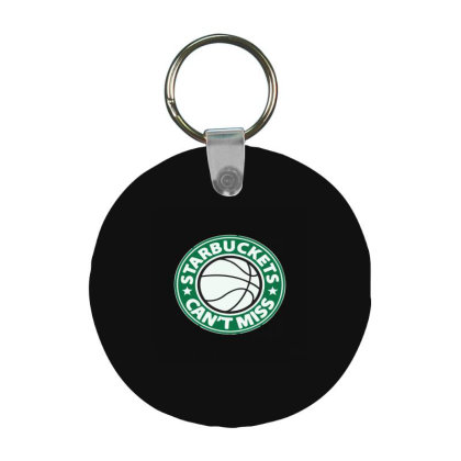 Starbuckets Can't Frp Round Keychain Designed By Yad1_