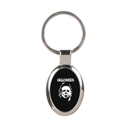 Michael Myers Halloween Oval Keychain Designed By Loye771290