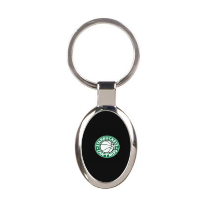 Starbuckets Can't Oval Keychain Designed By Yad1_