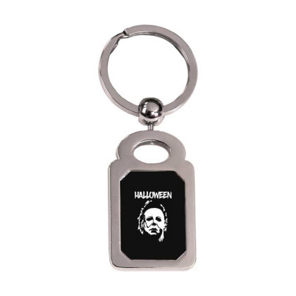 Michael Myers Halloween Silver Rectangle Keychain Designed By Loye771290