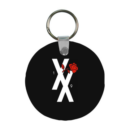 Xx Red Rose Frp Round Keychain Designed By Loye771290