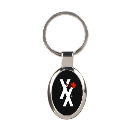 Xx Red Rose Oval Keychain Designed By Loye771290