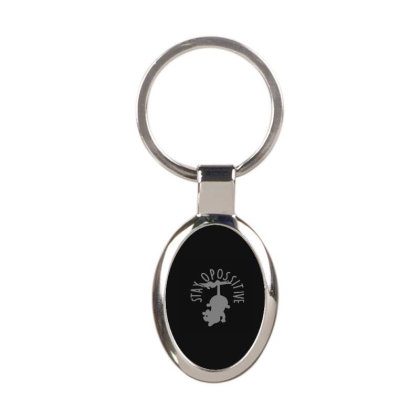 Stay Opossitive Oval Keychain Designed By Yad1_