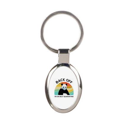 Panda Quarantine Oval Keychain Designed By Delicous