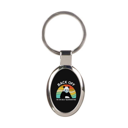 Quarantine Meme Oval Keychain Designed By Delicous