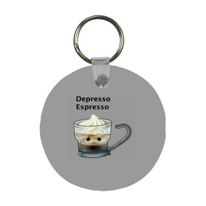 Coffee Frp Round Keychain Designed By Shannen Doherty