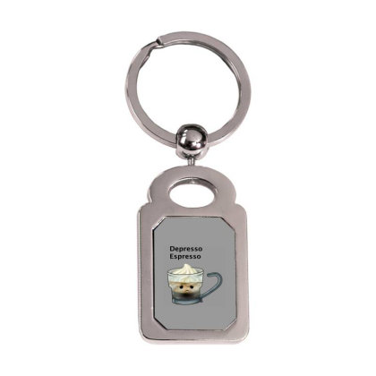 Coffee Silver Rectangle Keychain Designed By Shannen Doherty