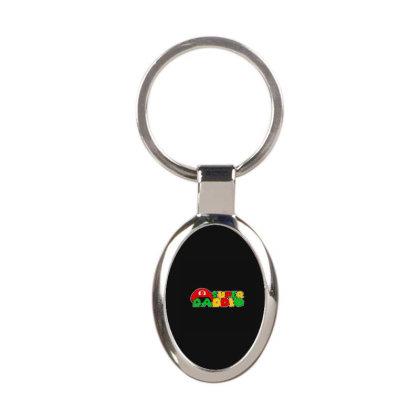 Super Daddio Gamer Dad Oval Keychain Designed By Yad1_