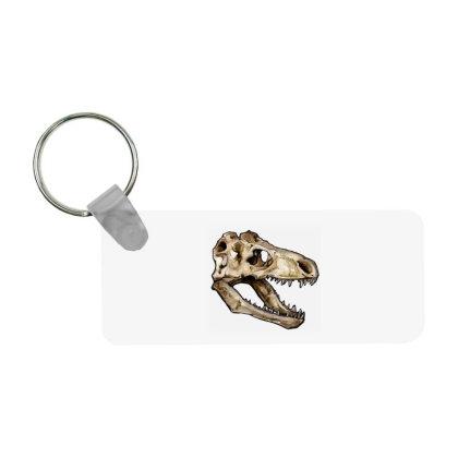 Dino Skull Frp Rectangle Keychain Designed By Mina Aksarani