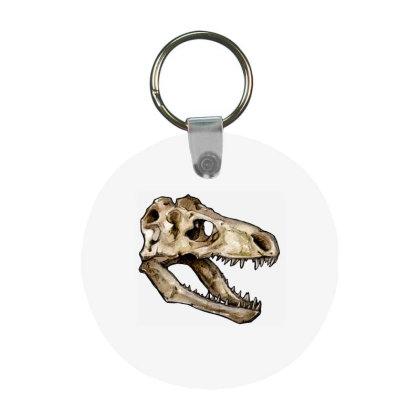 Dino Skull Frp Round Keychain Designed By Mina Aksarani