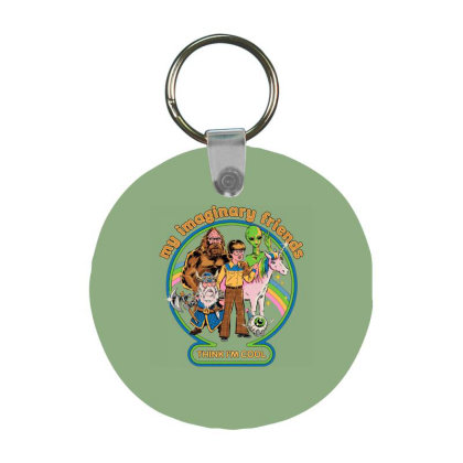 My Imaginary Friends Frp Round Keychain Designed By Campbell