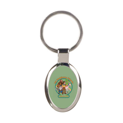 My Imaginary Friends Oval Keychain Designed By Campbell