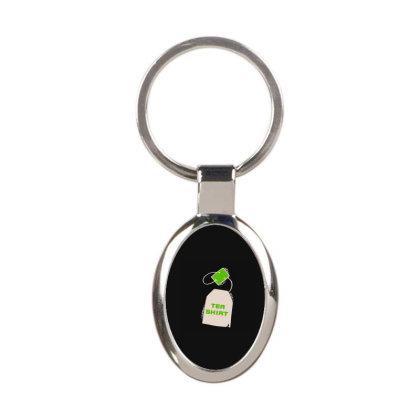 Tea Shirt Oval Keychain Designed By Yad1_