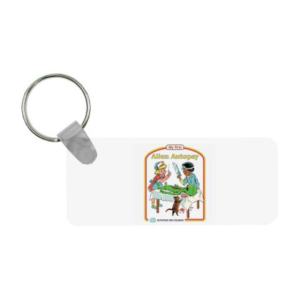 My First Alien Autopsy Frp Rectangle Keychain Designed By Campbell