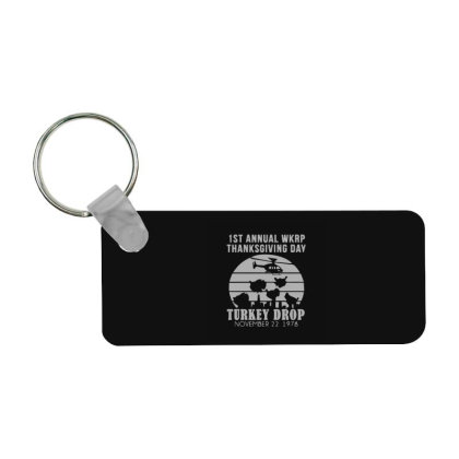 Thanksgiving Wkrp Turkey's Drop Frp Rectangle Keychain Designed By Yad1_
