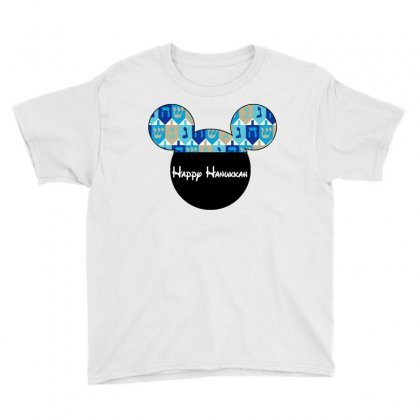 Hanukkah Dreidal Ears Youth Tee Designed By Tshirt Time