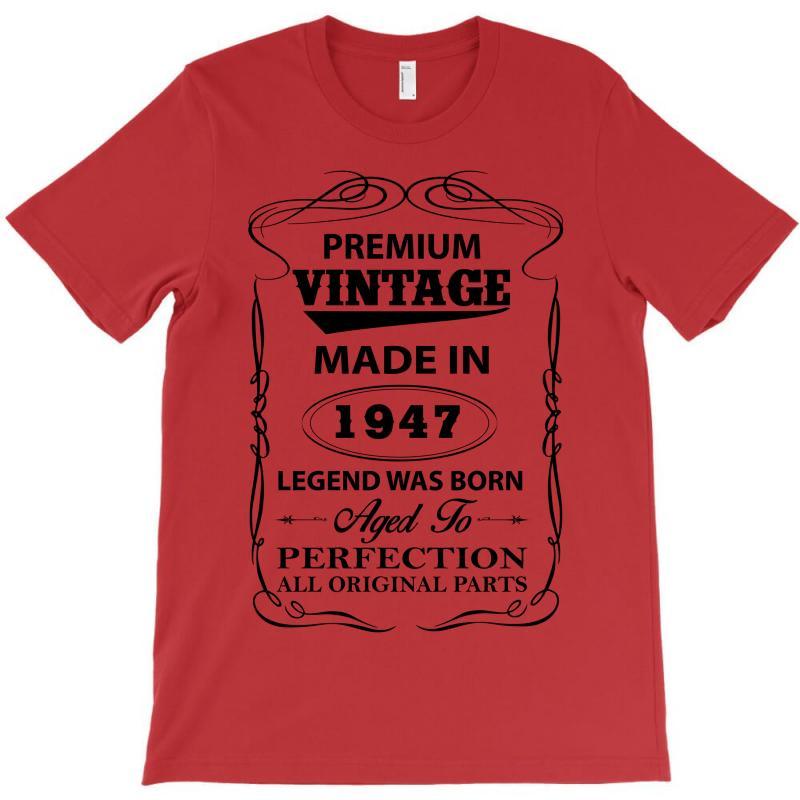 Vintage Legend Was Born 1947 T-shirt   Artistshot