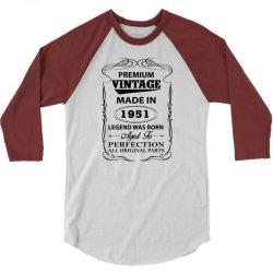 vintage legend was born 1951 3/4 Sleeve Shirt | Artistshot