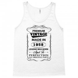 vintage legend was born 1958 Tank Top | Artistshot