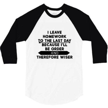 Homework 3/4 Sleeve Shirt Designed By Uda Rajata