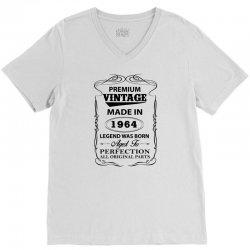 vintage legend was born 1964 V-Neck Tee | Artistshot