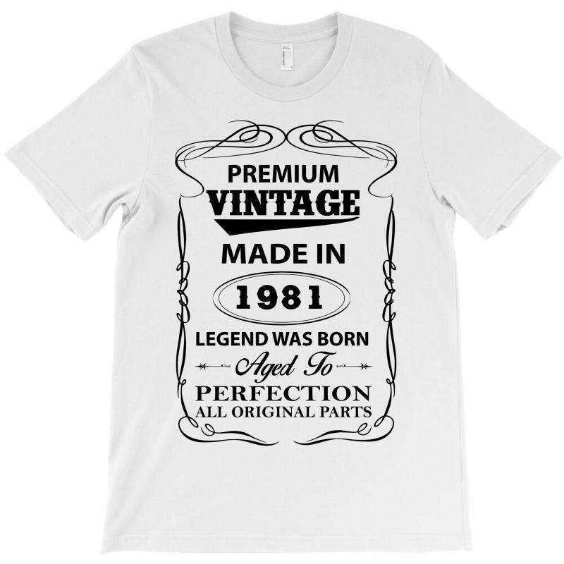 Vintage Legend Was Born 1981 T-shirt | Artistshot