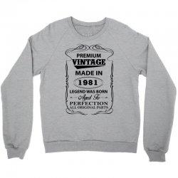 vintage legend was born 1981 Crewneck Sweatshirt | Artistshot