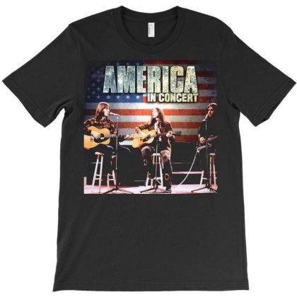 America America Album Rock Band Men039s Black Tshirt Size S M L Xl 2xl T-shirt Designed By Pujangga45