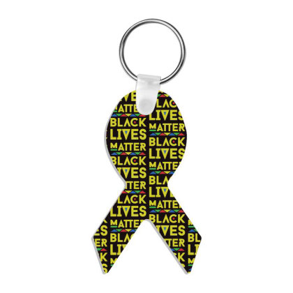 Black Lives Matter Ribbon Keychain Designed By Zig Street
