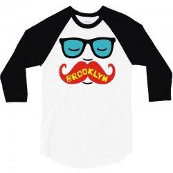 brooklyn moustache 3/4 Sleeve Shirt | Artistshot