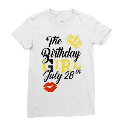 Birthday Party Ladies Fitted T-shirt Designed By Delicous