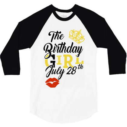 Birthday Party 3/4 Sleeve Shirt Designed By Delicous