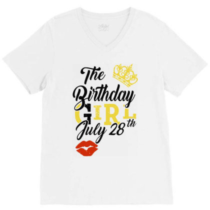 Birthday Party V-neck Tee Designed By Delicous