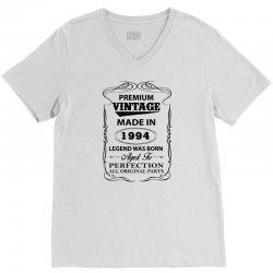vintage legend was born 1994 V-Neck Tee | Artistshot