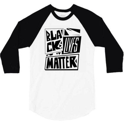 Black Lives Matter Pride (black) 3/4 Sleeve Shirt Designed By Wahidin77