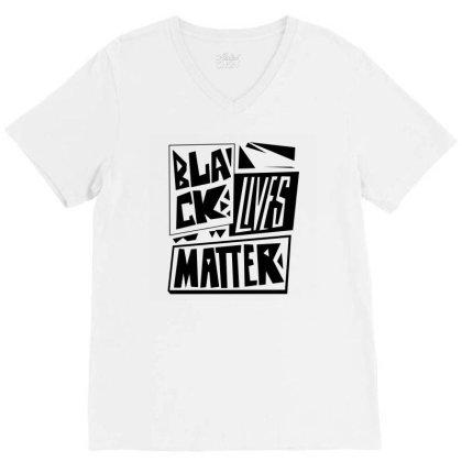 Black Lives Matter Pride (black) V-neck Tee Designed By Wahidin77