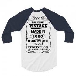 vintage legend was born 2000 3/4 Sleeve Shirt   Artistshot