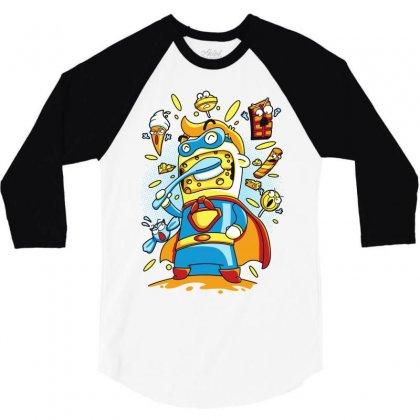 Brush My Cheese 3/4 Sleeve Shirt Designed By Monstore